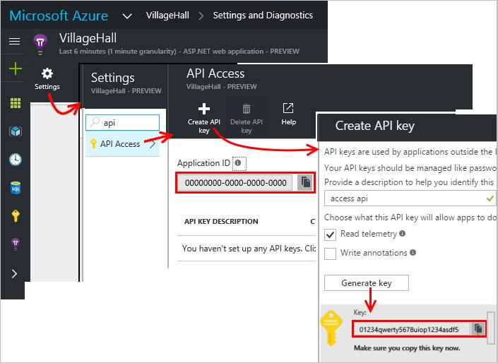 API Acces in Azure Portal